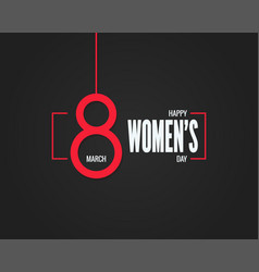 8 march banner womens day 8th march background vector image