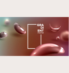 abstract background liquid fluid cosmetic vector image