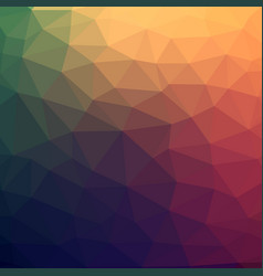 abstract colorful low poly background with warm vector image