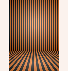 abstract orange and black color vintage striped vector image