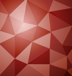 Abstract red polygon triangle background vector