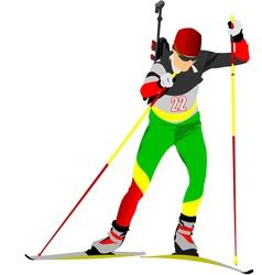 al 0719 biathlon 03 vector image vector image