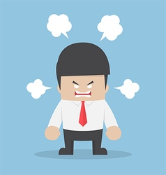 Angry businessman explode his emotion vector