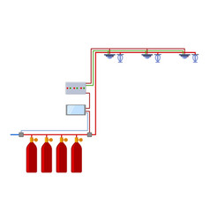 Automatic fire extinguishing system autonomous vector