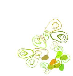 Avocado food vegetable line bright colorful card vector