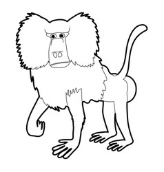 baboon icon outline vector image