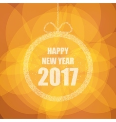 Beautiful greeting card with the new 2017 with vector image