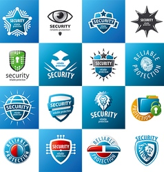 biggest collection of logo design protection vector image