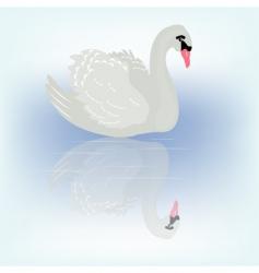 Bird swan vector