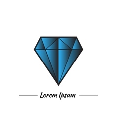 Blue diamond or topaz in graphic style vector