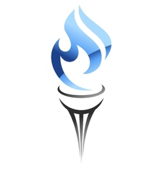 Blue flame of gas vector