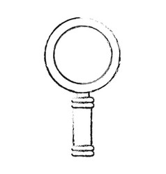 Blurred silhouette cartoon magnifying glass with vector