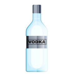 bottle vodka glass alcohol drink flat vector image