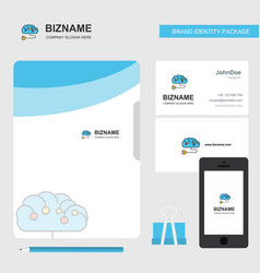 brain circuit business logo file cover visiting vector image