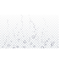 Bubbles underwater transparent water air vector