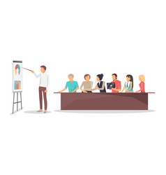 business conference workers vector image