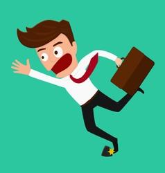 Businessman stumbling on rock vector image