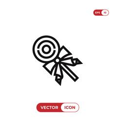 christmas lollipop icon vector image