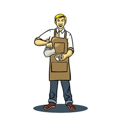 Coffee Barista vector image