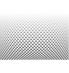 convex half circles pattern vector image