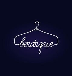 Creative boutique logo design vector