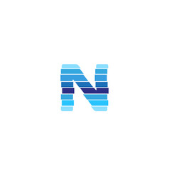 creative n letter network logo symbol design vecor vector image