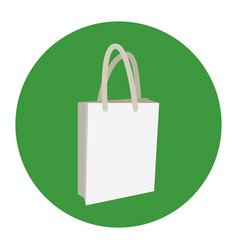 eco bag icon shopping sign market vector image