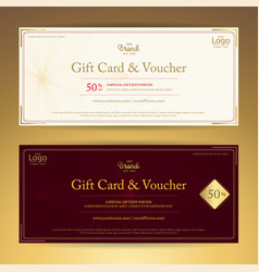Elegant gift voucher or gift card or coupon vector