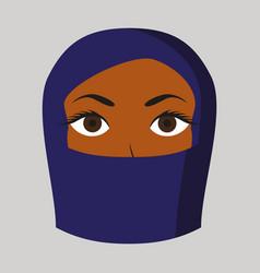 Flat icon on theme arabic business portrait vector