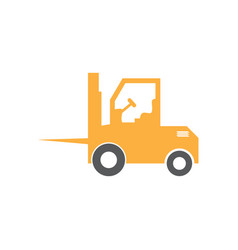 forklift graphic design template isolated vector image