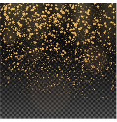 gold glitter particles expensive on a transparent vector image