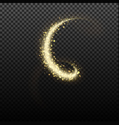 gold glittering star dust lights vector image