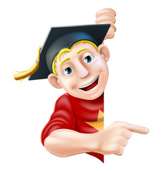 graduate pointing vector image