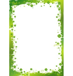 Green background for St Patricks Day vector