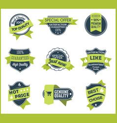 Green marketing labels set 5 vector