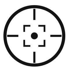Gun target icon simple style vector