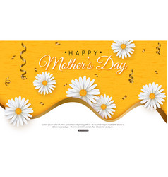 happy mothers day greeting card with typographic vector image