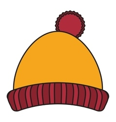 Hat of winter cloth design vector