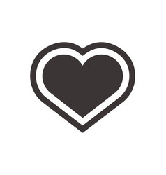 Heart icon flat symbol for application or web vector