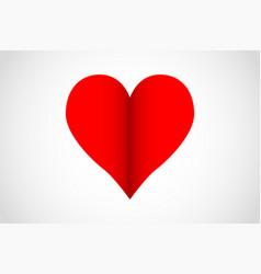 heart shape for celebrations vector image