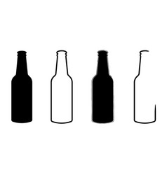 icon alcohol glass bottle for beer and food vector image