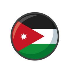 Isolated jordan faso flag icon block design vector