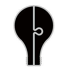 isolated lightbulb silhouette vector image