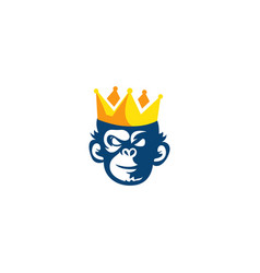 King monkey logo vector
