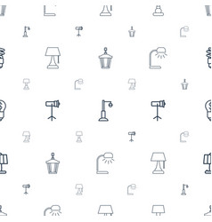Lamp icons pattern seamless white background vector