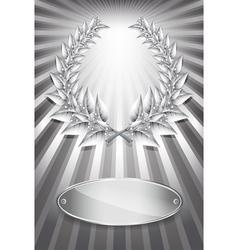 Laurel award silver vector image vector image
