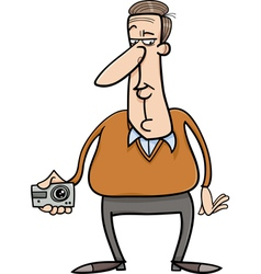 man and hidden camera cartoon vector image