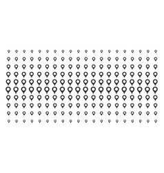 Map marker shape halftone pattern vector