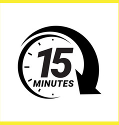 Minute timer icons sign for fifteen minutes vector