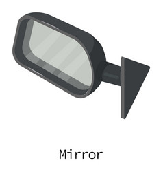 mirror car icon isometric 3d style vector image vector image